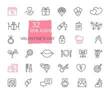 Valentine Icon Set. Happy Vale...