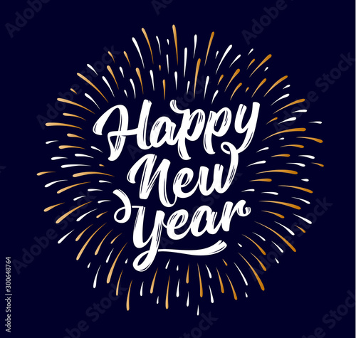 Happy New Year. Lettering text for Happy New Year Canvas-taulu