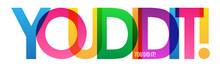 YOU DID IT! Rainbow Vector Typ...