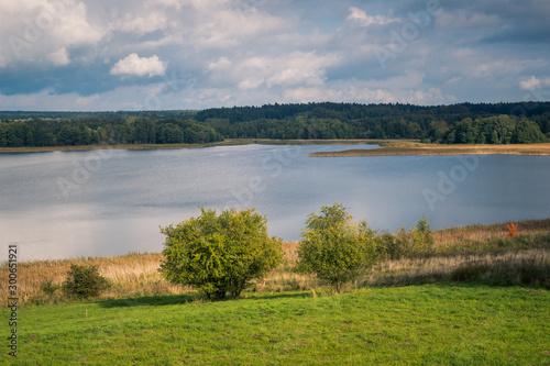 Fototapeta Pozezdrze lake at autumn, Warminsko- Mazurskie, Poland obraz na płótnie