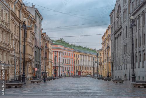 Foto auf Gartenposter Cappuccino Nevsky prospekt - the main street of St. Petersburg