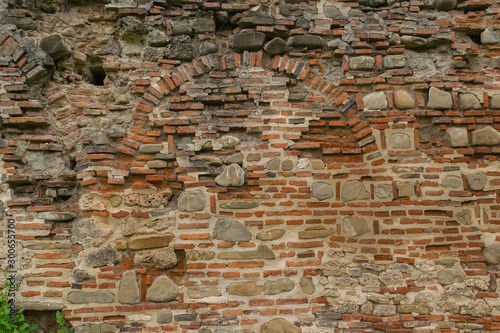 Pinturas sobre lienzo  ancient deteriorated brick and stone wall background