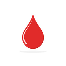 Red Blood Drop Icon - Vector.