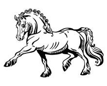Vector Standing Pony 2