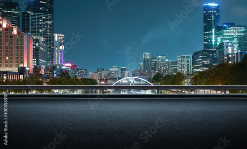 Melbourne urban cityscape skyline night scene #300658310