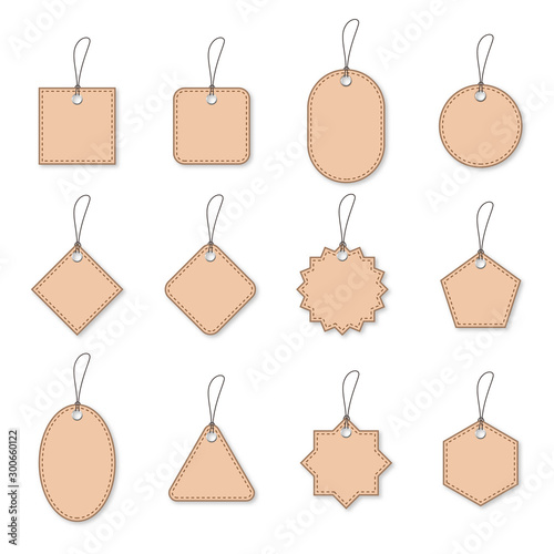 Fototapety, obrazy: Set of paper discount tags or labels - vector