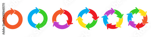 Cuadros en Lienzo Set of circle arrows for infographic.