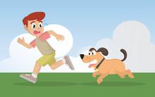 Cartoon Character, Boy Running...