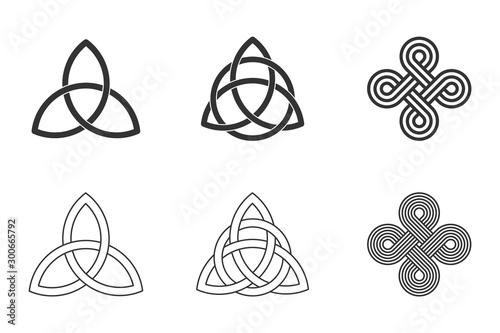 Fotomural  Celtic knots set on white background