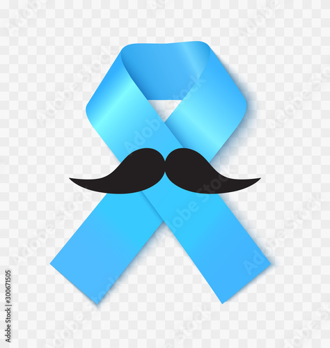 Prostate cancer awareness ribbon realistic vector illustration Canvas Print