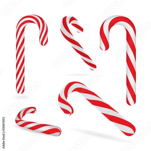 Christmas candy canes Obraz na płótnie