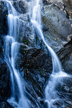 Close Up Shot Of A Waterfall I...