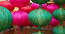 Colorful Chinese Style Lantern Hanging Outdoor For Lunar New Year