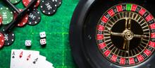 Gambling Flat Lay.Close-up Car...