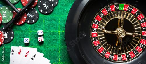 Gambling flat lay Fototapeta