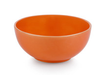 Orange Bowl Isolated On White Background
