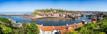 Panoramic View Of Whitby, Yorkshire, UK