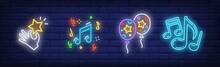 Festive Party Neon Sign Set Wi...