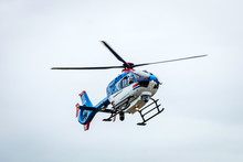 Police Helicopter In Air. The ...