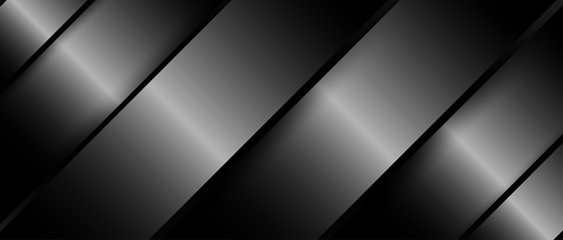 Abstract. Silver steel overlap layer on black background ,light and shadow. m...