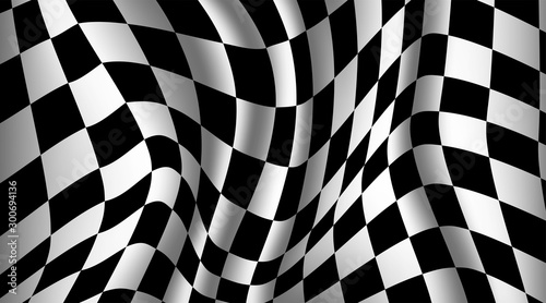 Black and white checkered flag background Fototapet