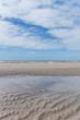 canvas print picture - Blick vom Strand aufs Meer