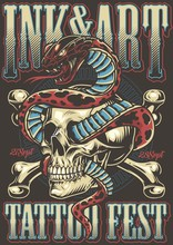 Colorful Tattoo Festival Poster