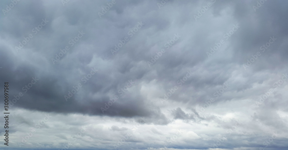 Fototapety, obrazy: gloomy sky with dark clouds
