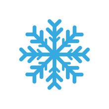 Blue Snowflake Icon. Vector Dr...