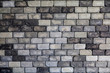 old brick wall for background tone black and white