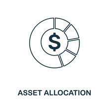 Asset Allocation Icon Outline ...