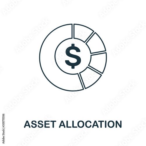 Photo Asset Allocation icon outline style