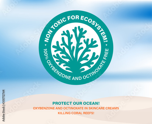 Valokuvatapetti Non toxic for ecosystem! Protect our ocean