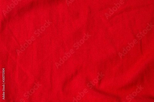 Fotomural  red crumpled texture fabric top view