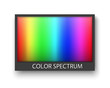 canvas print picture - Simple grey frame with color spectrum isolaten on white background with shadow