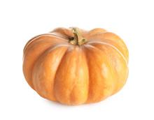 Fresh Raw Pumpkin Isolated On White. Organic Plant