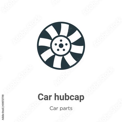 Vászonkép Car hubcap vector icon on white background