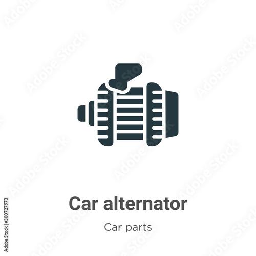 Car alternator vector icon on white background Wallpaper Mural