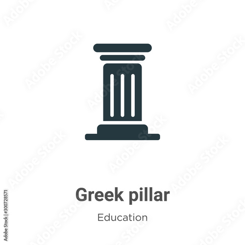 Fotografía  Greek pillar vector icon on white background