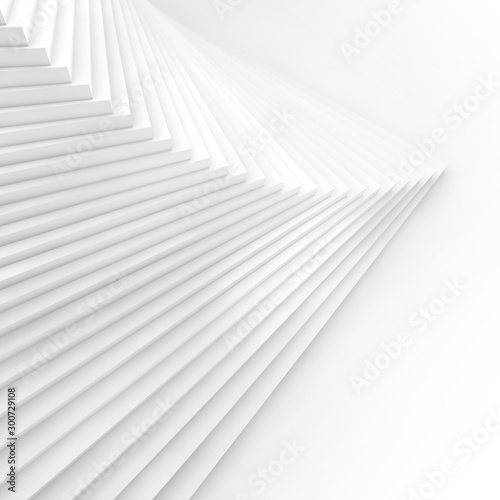Abstract square white background 3d Canvas Print