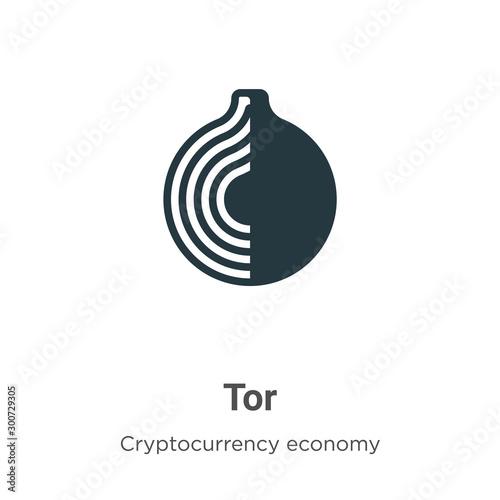 Vászonkép Tor vector icon on white background