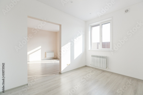 unfurnished house or apartment in bright colors Canvas Print