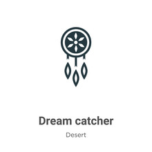 Dream Catcher Vector Icon On W...