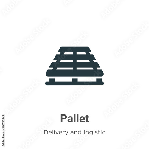Fotomural Pallet vector icon on white background