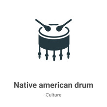 Native American Drum Vector Ic...