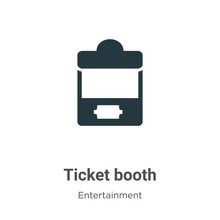 Ticket Booth Vector Icon On Wh...