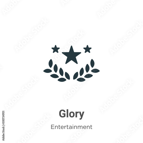 Glory vector icon on white background Tablou Canvas