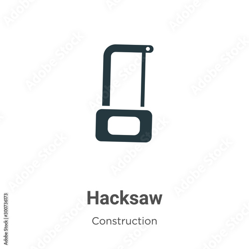 Valokuvatapetti Hacksaw vector icon on white background