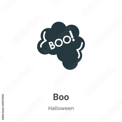 Vászonkép  Boo vector icon on white background