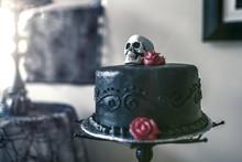 Halloween Themed Black Wedding...